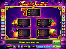 Fruit Sensation Gratis spielen